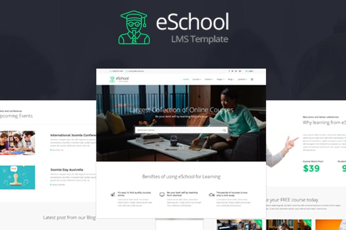 Thumbnail for eSchool - Educación y Joomla LMS Plantilla