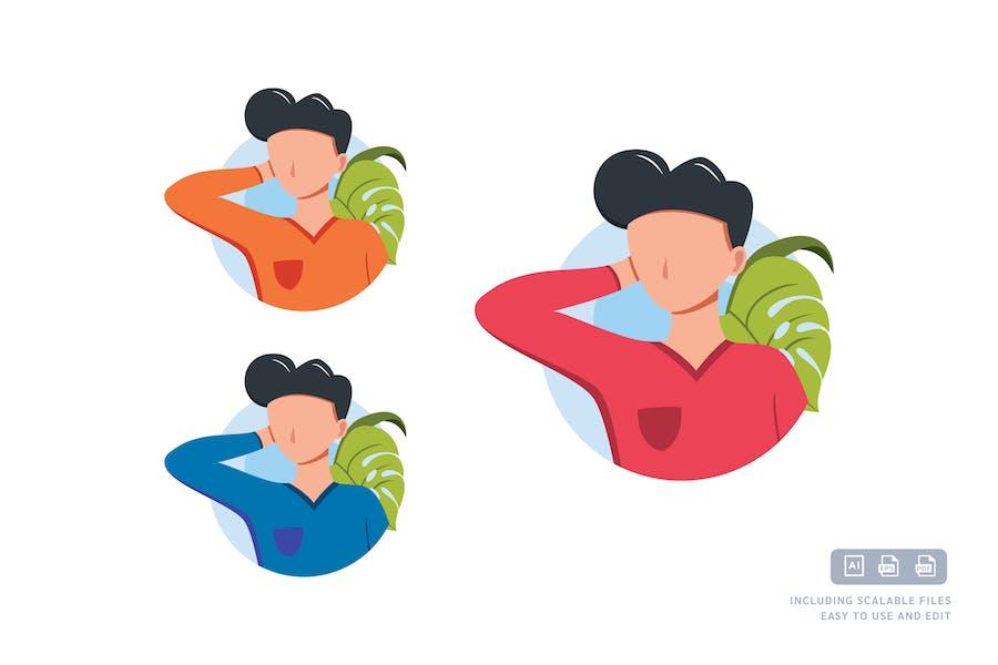 Freestyle-Mann - Avatar-IlustrationsVorlage