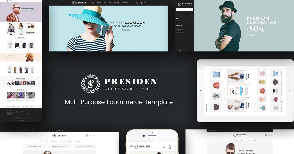 Download Presiden - Multistore Responsive Magento Theme by Plaza-Themes