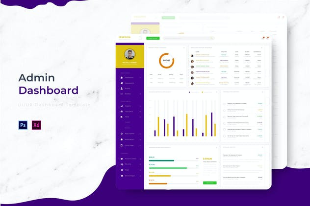 Feredion Dashboard | Admin Template - product preview 3