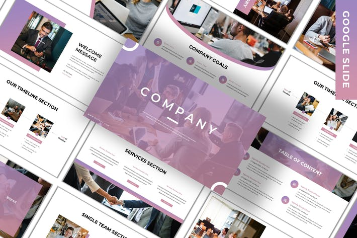 Thumbnail for Company - Business Google Slide Template