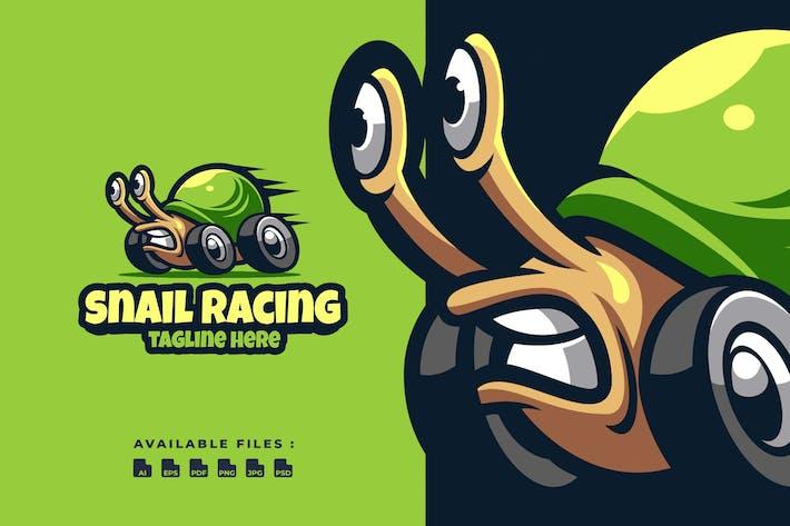 Thumbnail for Snail Racing Cartoon Logo