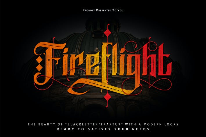 Thumbnail for FireFlight | Blackletter Modern Font