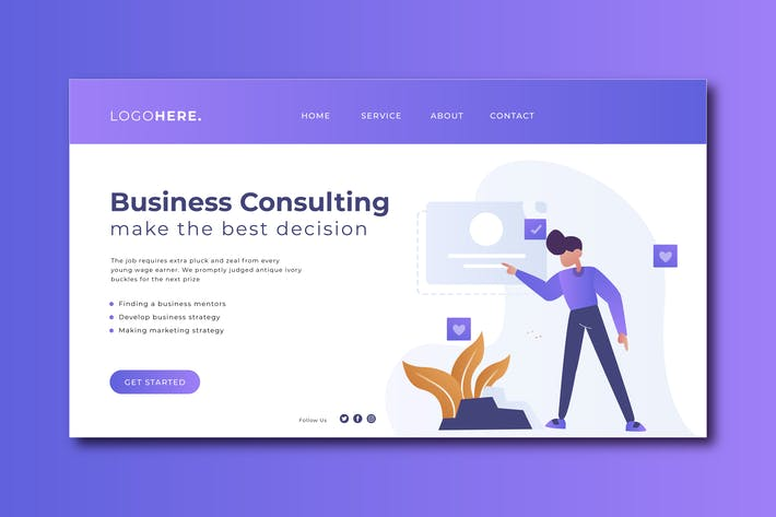 Thumbnail for Business Consulting Landing Page