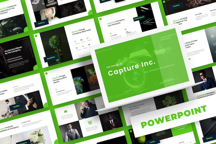 Cover Image For Capture Inc - Powerpoint Template