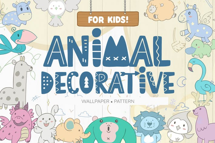 Thumbnail for Wallpaper Animal Decorative for Kids