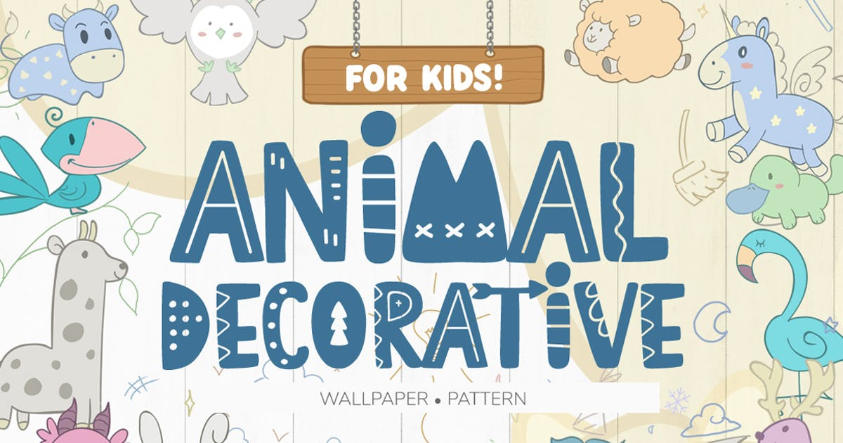 Download Wallpaper Animal Decorative for Kids by eviory