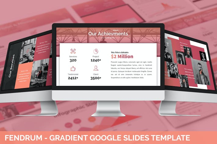 Thumbnail for Fendrum - Gradient Google Slides Template