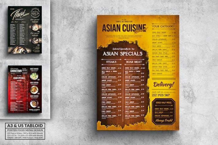 Thumbnail for Various Asian Food Menu Poster Design Bundle