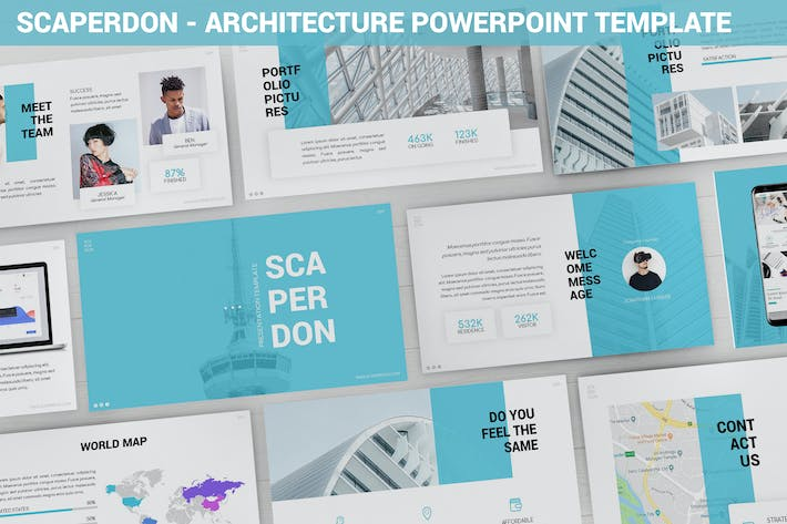 Thumbnail for Scaperdon - Architecture Powerpoint Template
