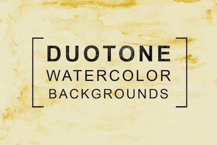 11 Duotone Watercolor Backgrounds