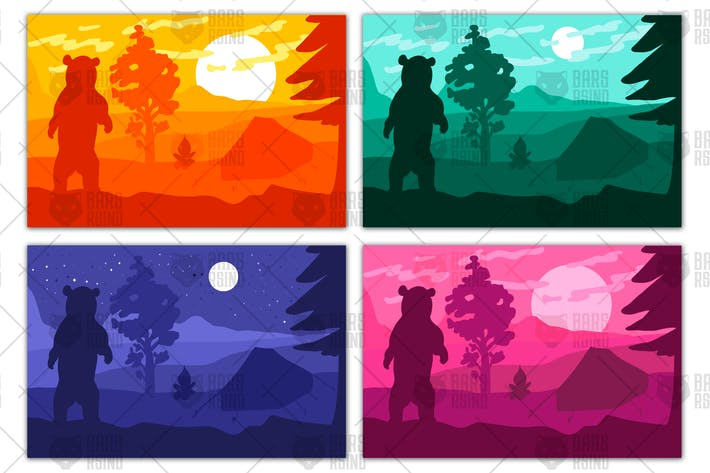 Thumbnail for Wild bear in forest camp