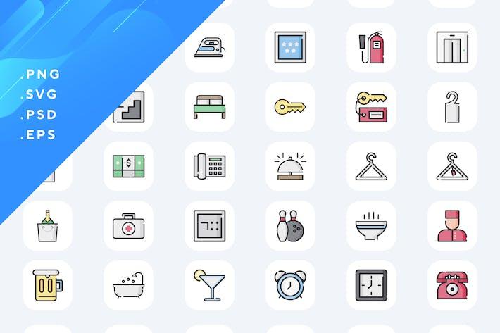 80 Hotel Icons