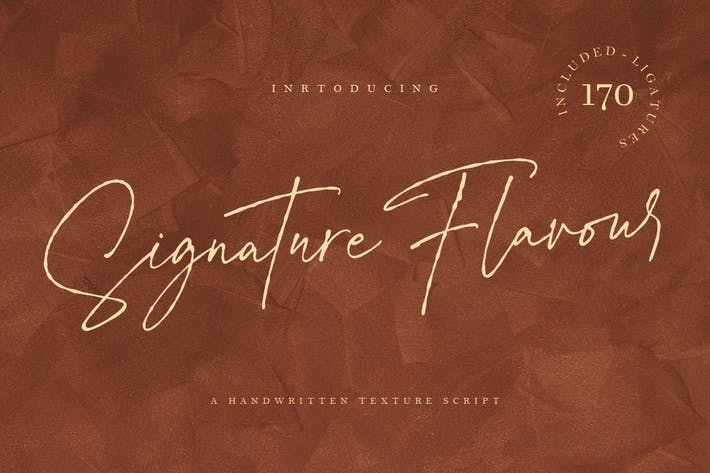 Thumbnail for Signature Flavour | Handwritten Font MS