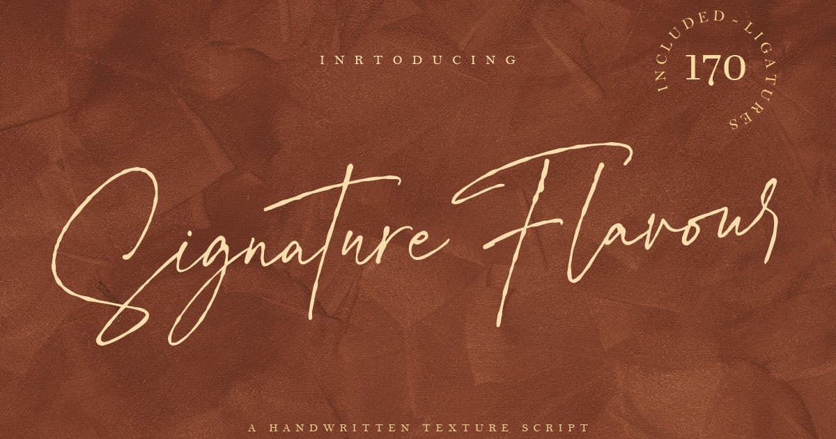Download Signature Flavour | Handwritten Font by templatehere