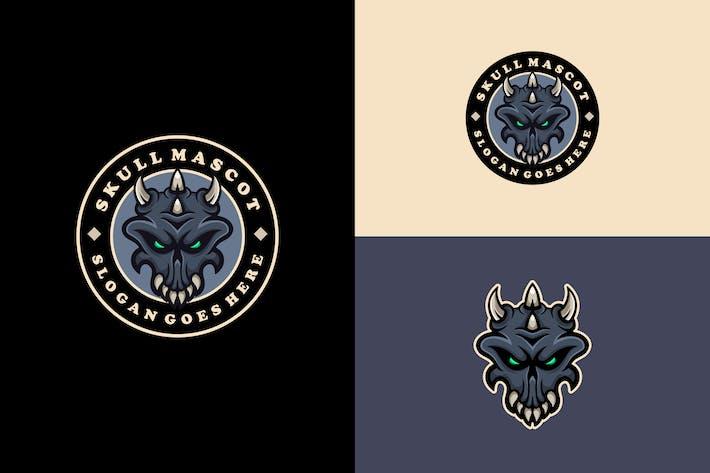 Thumbnail for skull mascot logo template