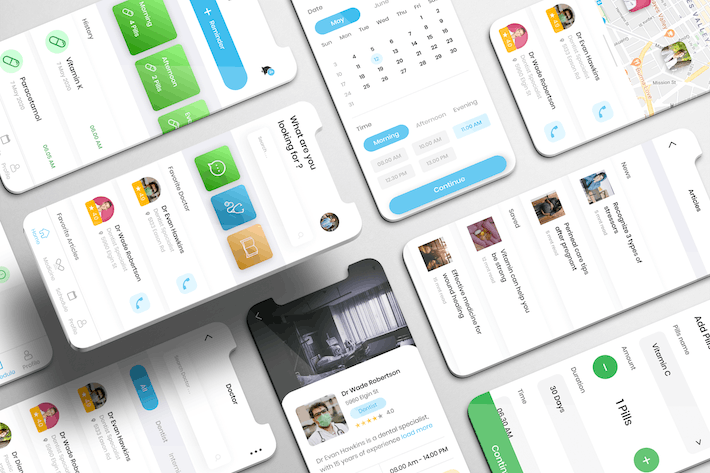 Thumbnail for Wecare UI Kit - Healthcare Apps
