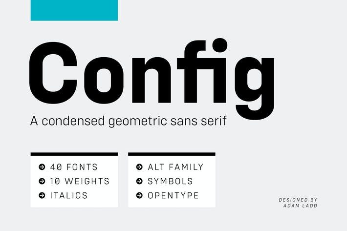 Cover Image For Config Complete Font Family
