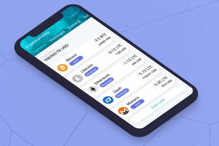 Cryptocurrency Wallet 3 Mobile Ui - H
