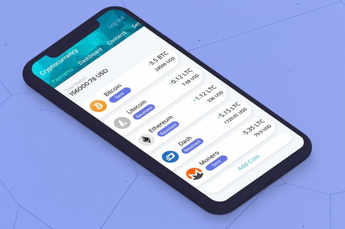 Thumbnail for Cryptocurrency Wallet 3 Mobile Ui - H