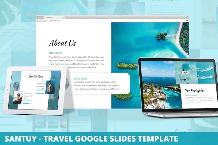 Santuy - Шаблон слайдов Google Путешествия