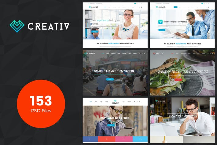 Thumbnail for Creativ | Multi_Concept Business PSD Template
