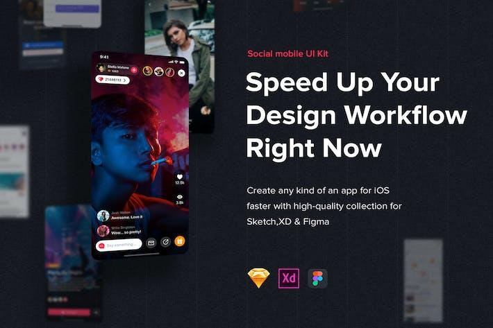 Thumbnail for Jazam - Social mobile app UI Kit