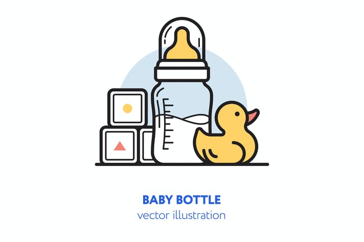 Thumbnail for Baby bottle vector illustration
