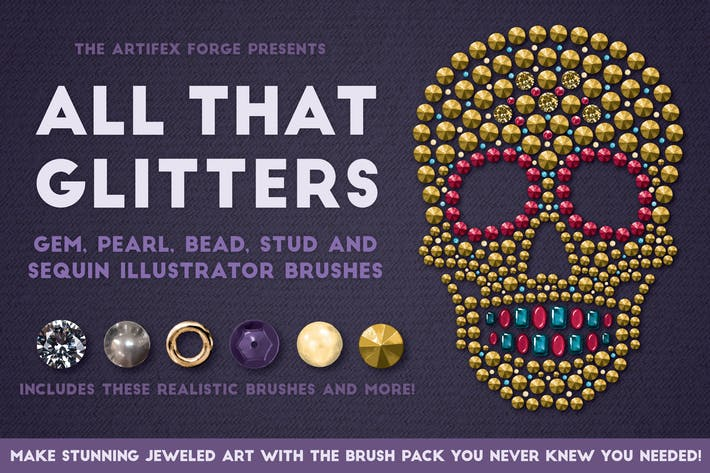 Thumbnail for All That Glitters - Vector Brushes