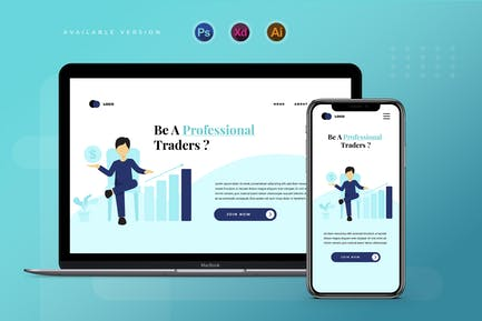 Trading & Investing  - Banner & Landing Page