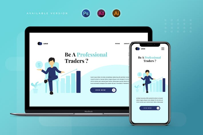 Thumbnail for Trading & Investing  - Banner & Landing Page