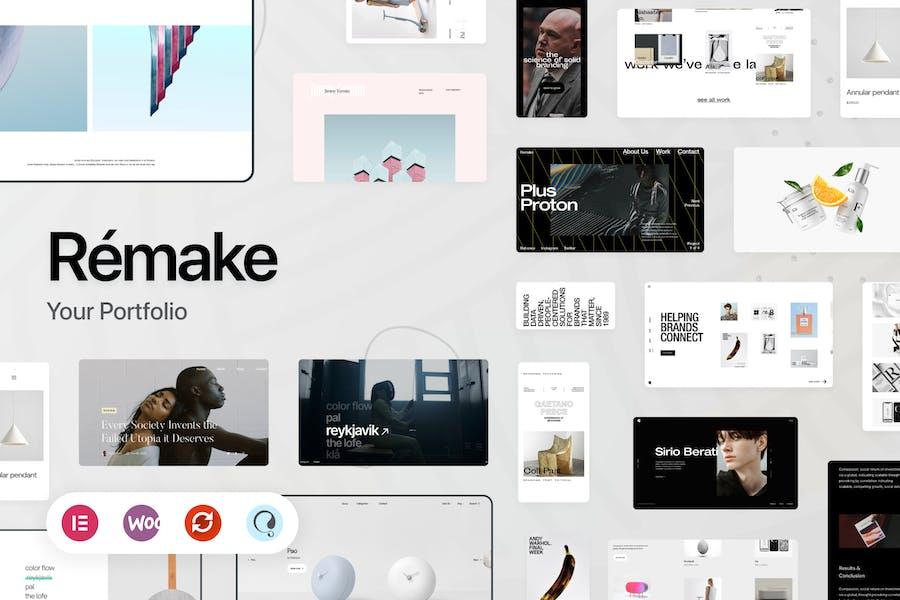 Remake - Minimalista Porfolio WordPress Tema