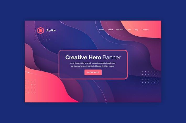 Thumbnail for Anika  - Hero Banner Template