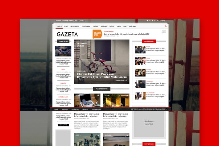 Cover Image For Gazeta 1 - Responsive Magazine & News Template