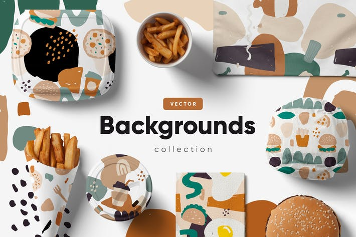 Thumbnail for Food Abstract backgrounds & patterns