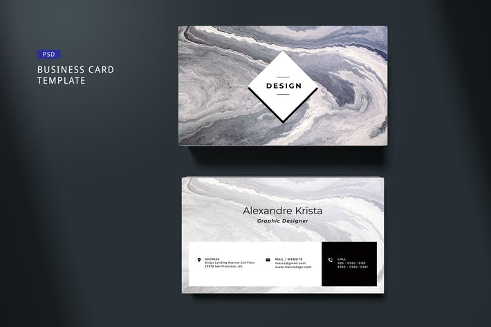 Thumbnail for Elegant Business Card Template #05