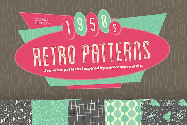 Thumbnail for 1950s Retro Seamless Patterns