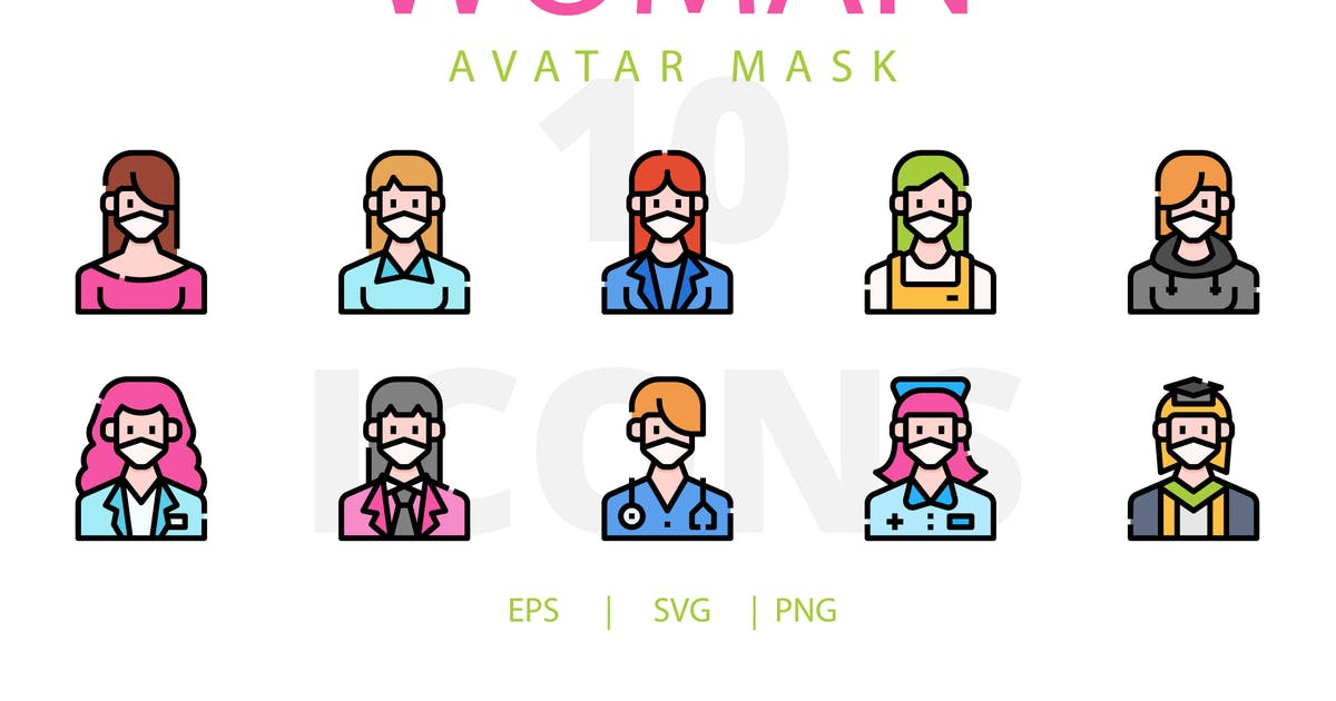 Download Woman avatar mask by linector