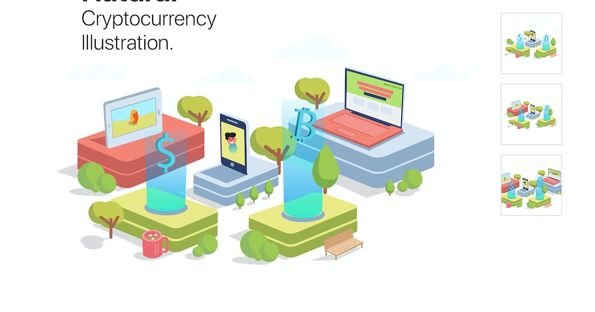 Download Cryptocurrency Illustration by xvector-team