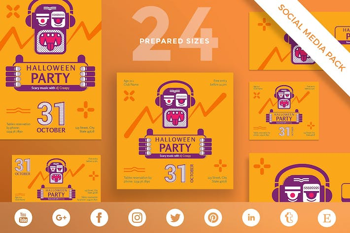Download 255 halloween graphic templates envato elements thumbnail for halloween party social media pack template maxwellsz