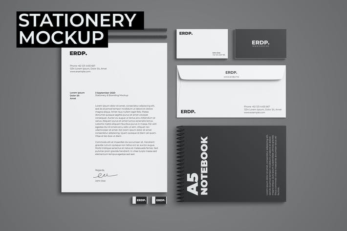 Thumbnail for Stationery Mockup - 3 PSD Files
