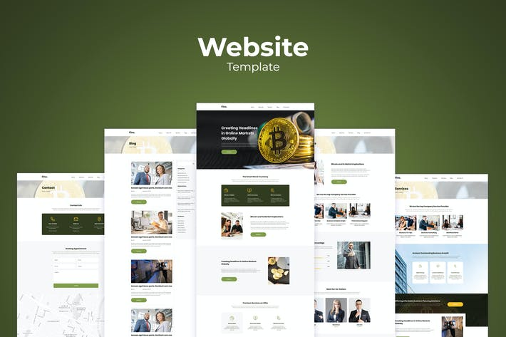 Thumbnail for Fintech Business Website Templates