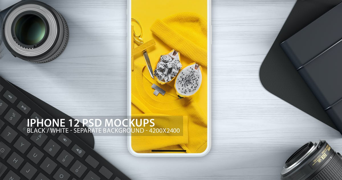 Download iPhone 12 PSD Mockups with Clean Background by Abdelrahman_El-masry