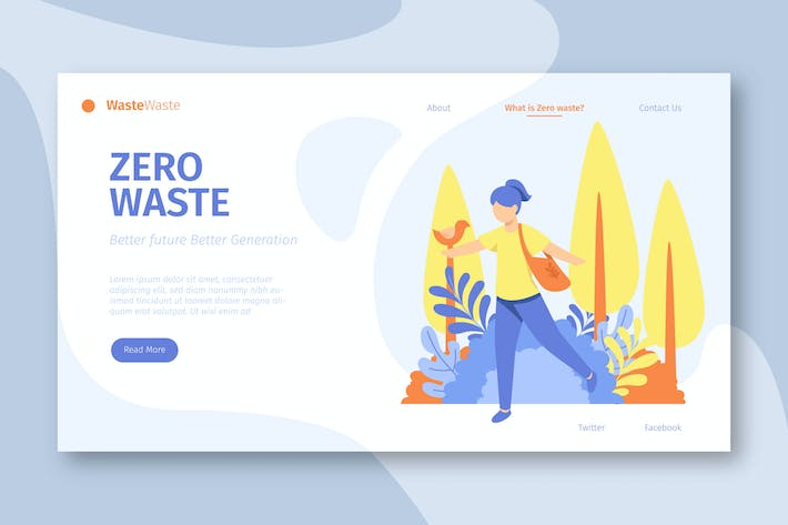 Thumbnail for Zero Waste Campaign - Landing Page
