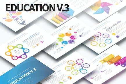 Education V.3 - PowerPoint Infographics Slides