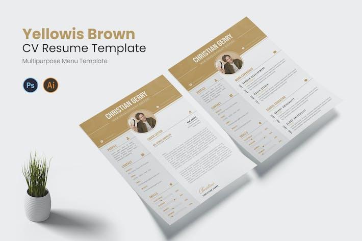 Thumbnail for Yellowis Brown CV Resume
