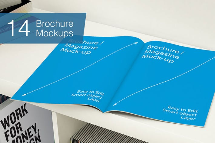 Thumbnail for Brochure Mockups - 14 poses