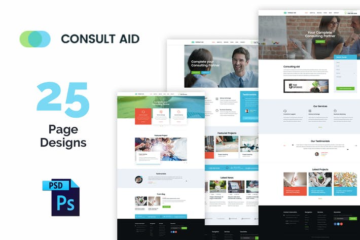 Thumbnail for Consult Aid: Business Consulting And Finance PSD