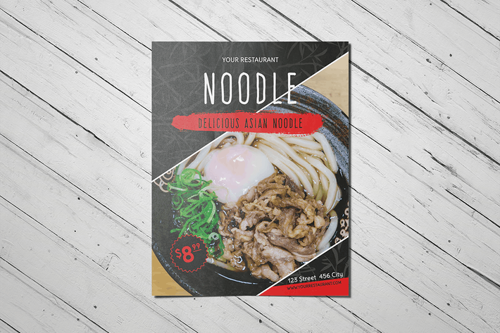 Thumbnail for Delicious Asian Noodle Restaurant Flyer