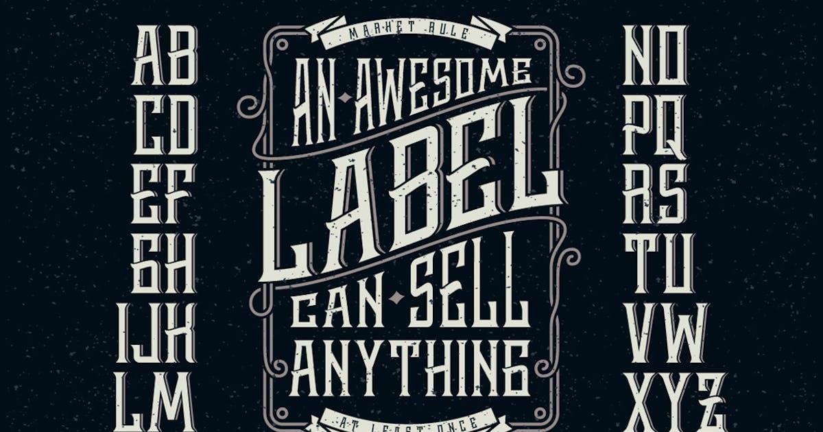 Download Whiskey label font by Gleb_Guralnyk